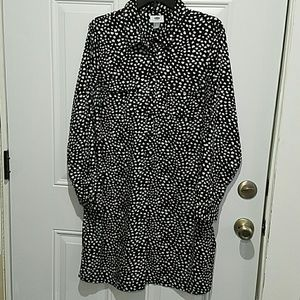 OLD NAVY shirt dress Large